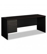 """HON 38000 72"""" W Single Pedestal Credenza Office Desk, Left"""