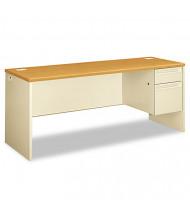 """HON 38000 72"""" W Single Pedestal Credenza Office Desk, Right"""