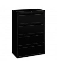 "HON Brigade 784LP 4-Drawer 36"" Wide Lateral File Cabinet, Letter & Legal Size, Black"