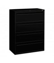 "HON Brigade 794LP 4-Drawer 42"" Wide Lateral File Cabinet, Letter & Legal Size, Black"