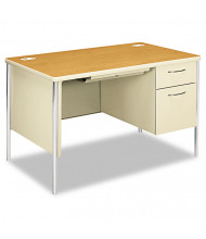 "HON Mentor 48"" W Single Pedestal Teacher Desk, Right"
