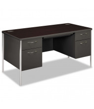 "HON Mentor 60"" W Double Pedestal Teacher Desk"