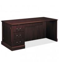 """HON 94000 66"""" W Single Pedestal Workstation Office Desk, Left"""