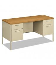 "HON Metro Classic 60"" W Double Pedestal Credenza Teacher Desk"