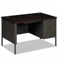 "HON Metro Classic 48"" W Single Pedestal Teacher Desk, Right"