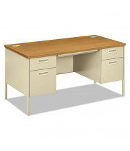 "HON Metro Classic 60"" W Double Pedestal Teacher Desk"