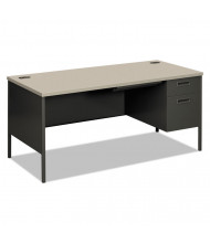 "HON Metro Classic 60"" W Single Pedestal Teacher Desk, Right"