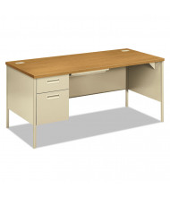 "HON Metro Classic 60"" W Single Pedestal Teacher Desk, Left"