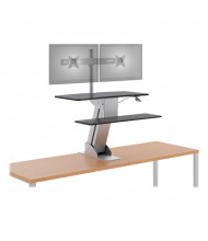 HON Directional S1102 Dual Monitor Sit-Stand Converter Desk Mount