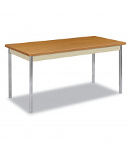 "HON 60"" W x 30"" D Laminate Utility Table, Harvest"