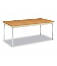 "HON 72"" W x 36"" D Laminate Utility Table, Harvest"