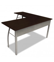 "Linea Italia Trento Line 60"" W L-Shaped Straight Front Steel Office Desk"