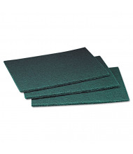 "Scotch-Brite PROFESSIONAL 9"" L x 6"" W Commercial Scour Pad, Green, Pack of 60"