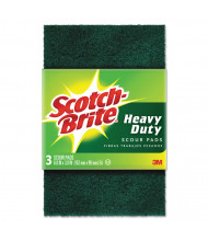 "Scotch-Brite 6"" L x 3.8"" W Heavy-Duty Scouring Pad, Green, Pack of 10"