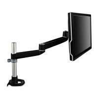 3M Dual-Swivel Monitor Arm For Monitors Up To 30 lbs., Black/Gray