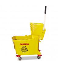 Magnolia Brush Mop Bucket/Wringer 35 qt., Yellow