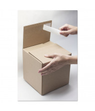 """EasyBox 10"""" x 8"""" x 8"""" Self-Sealing Mailing Boxes, Brown, Pack of 8"""