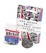 "Kurly Kate 3.5"" L x 3.5"" W Stainless Steel Sponges, Steel Grey, Pack of 144"