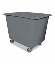 "Royal Basket Trucks 8-Bushel 64-Gallon Poly Truck, 800 Lb Load, 4"" Casters"