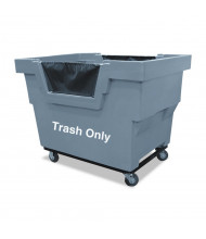 "Royal Basket Trucks Trash Only Mail Truck, 1000 Lb Load, 4"" Casters"
