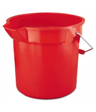 "Rubbermaid Commercial 11.25"" H BRUTE Round Utility Pail 14 qt., Red"