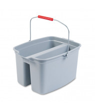 "Rubbermaid Commercial 10"" H x 18"" W Double Utility Pail 19 qt., Grey"