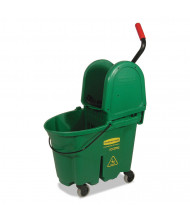 "Rubbermaid Commercial 36.5"" H x 15.75"" W WaveBrake Bucket/Wringer 35 qt., Green"