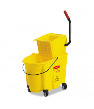 "Rubbermaid Commercial 36.5"" H x 15.75"" W WaveBrake Bucket/Wringer 35 qt., Yellow"