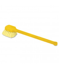 "Rubbermaid Commercial 20"" Long Handle Scrub Brush, Yellow, Pack of 6"