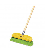 "Rubbermaid Commercial 10"" Synthetic-Fill Wash Brush, Green"
