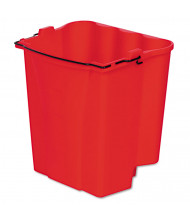 "Rubbermaid Commercial 14.125"" H x 14.125"" W Bucket 18 qt., Red"