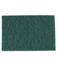 "Royal 9"" L x 6"" W Medium-Duty Scour Pad, Green, Pack of 60"