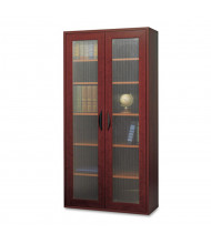 Safco Apres 9443MH Tall Two-Door Cabinet, Mahogany