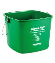 San Jamar Kleen-Pail Plastic Pail 6 qt., Green, Pack of 12