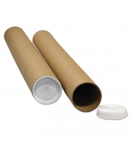 """General Supply 18"""" x 3"""" Dia. Round Mailing Tubes, Brown, Pack of 25"""