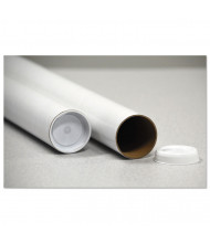 "General Supply 18"" x 3"" Dia. Round Mailing Tubes, White, Pack of 25"