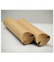 "General Supply 24"" x 1-1/2"" Dia. Snap-End Mailing Tubes, Brown, Pack of 25"