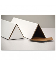 """General Supply 18"""" x 2"""" Triangular Mailing Tubes, White, Pack Of 25"""
