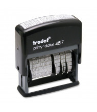 "Trodat Economy Self-Inking 12-Message Dater, 2"" x 3/8"", Black Ink"