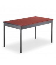 "OFM UT3048 48"" W x 30"" D Rectangular Utility Table (Shown in Cherry)"