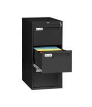 "Tennsco 3-Drawer 28"" Deep Vertical File Cabinet, Legal (shown in Black)"
