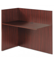 "Alera Valencia 44"" Reversible Reception Return, Mahogany"