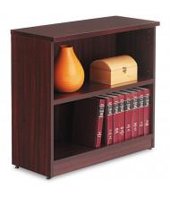 Alera Valencia VA633032MY 2-Shelf Laminate Bookcase in Mahogany Finish