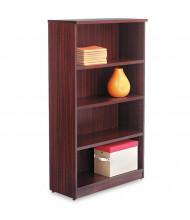 Alera Valencia VA635632MY 4-Shelf Laminate Bookcase in Mahogany Finish