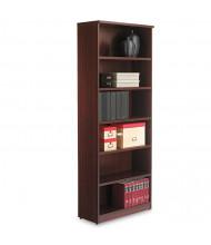 Alera Valencia VA638232MY 6-Shelf Laminate Bookcase in Mahogany Finish