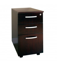 Mayline VBBF 3-Drawer Box/Box/File Mobile Pedestal Cabinet (Shown in Mahogany)