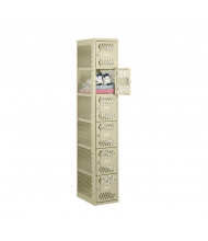 "Tennsco Ventilated Assembled 6-Tiered Box Locker 1 Wide Unit-12"" W x 18"" D x 72"" H without Legs (Shown in Putty)"