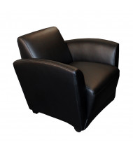 Mayline Santa Cruz VCCM Genuine Leather Mobile Lounge Chair (Shown in Black)