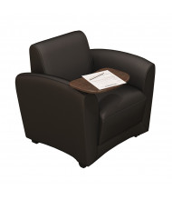 Mayline Santa Cruz VCCMT Tablet Arm Genuine Leather Mobile Lounge Chair (Shown in Black)