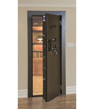 AmSec Commercial Grade Fire Resistant Steel Vault Door shown in Chocolate Brown with Black Nickle hardware